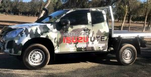 Vehicle Wrap Camo Mandurah Store