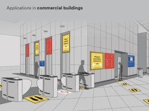 Commercial building Social Distance Signage