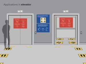 Elevator Social Distance Signage