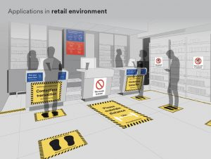 Retail Social Distance Signage