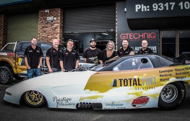 Funny car drag race team